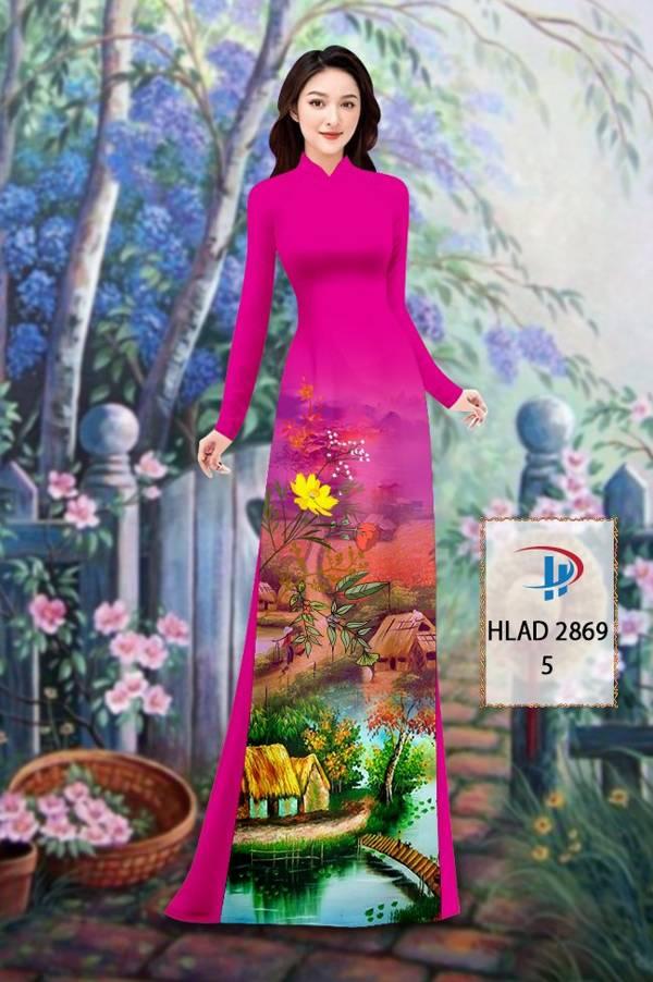 Vải Áo Dài Phong Cảnh AD HLAD 2869 49