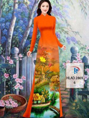 Vải Áo Dài Phong Cảnh AD HLAD 2869 25