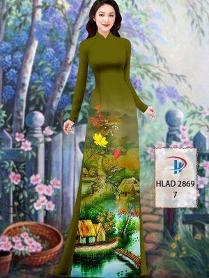 Vải Áo Dài Phong Cảnh AD HLAD 2869 26