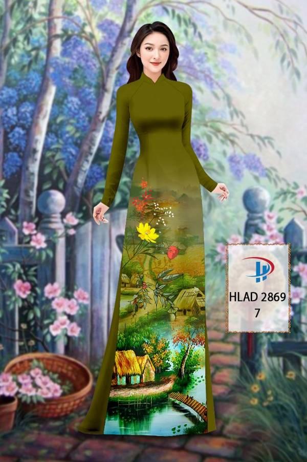 Vải Áo Dài Phong Cảnh AD HLAD 2869 2