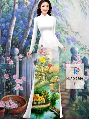 Vải Áo Dài Phong Cảnh AD HLAD 2869 27