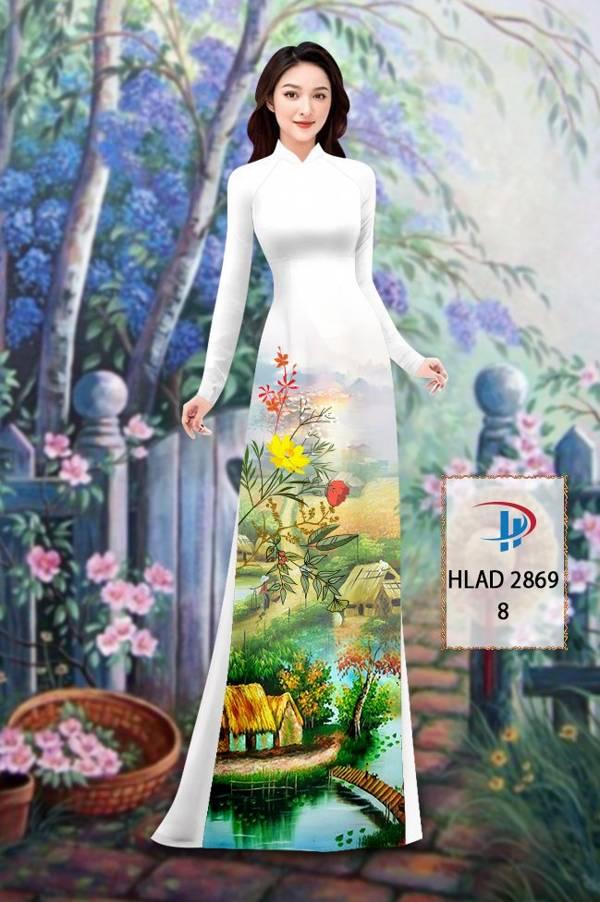 Vải Áo Dài Phong Cảnh AD HLAD 2869 3