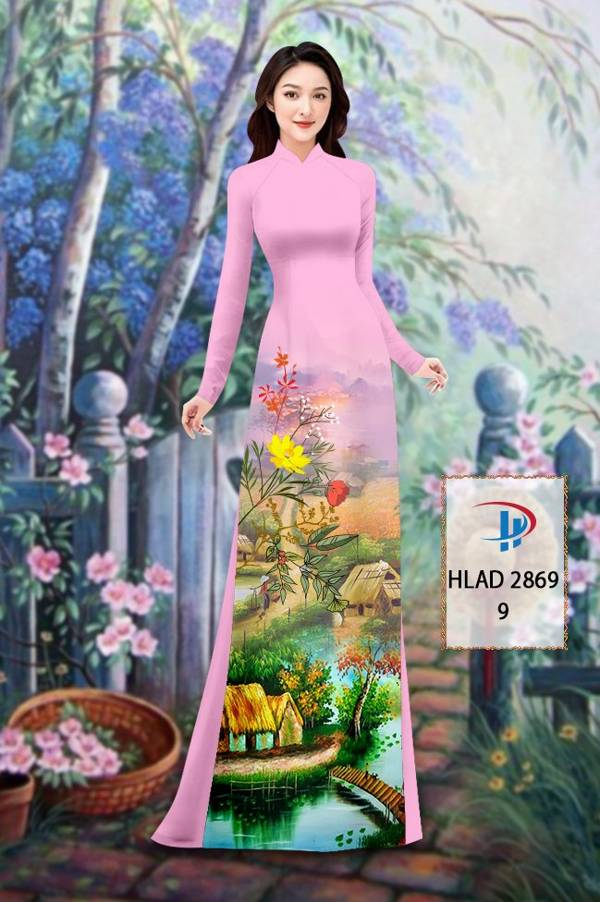 Vải Áo Dài Phong Cảnh AD HLAD 2869 4