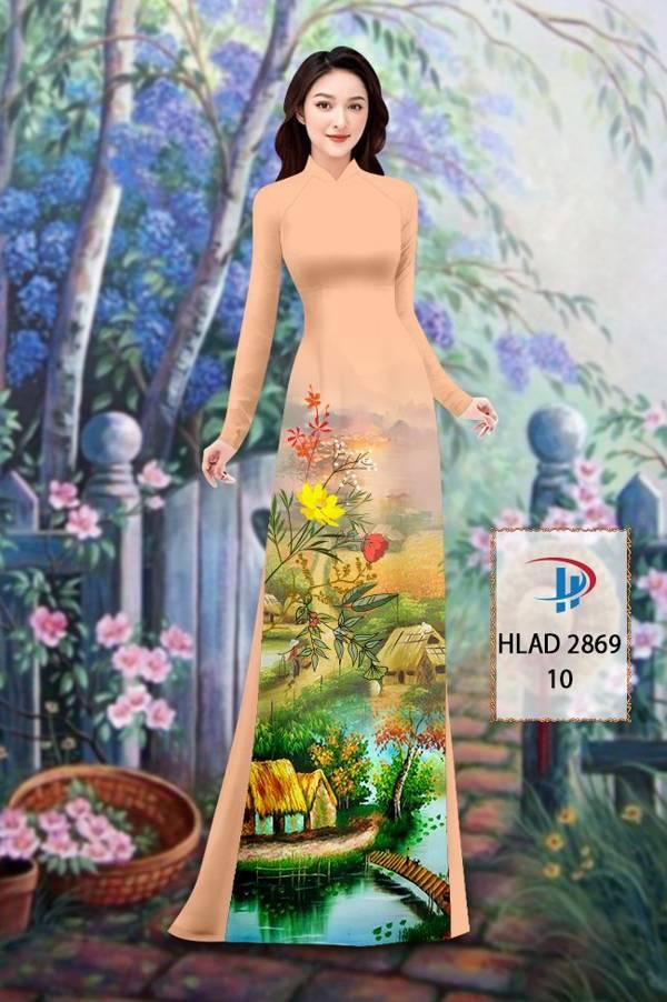 Vải Áo Dài Phong Cảnh AD HLAD 2869 5