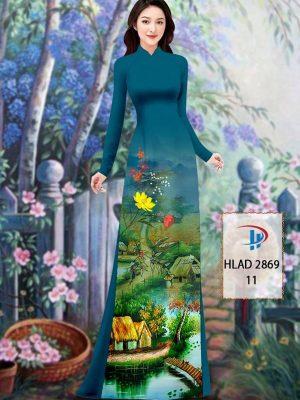 Vải Áo Dài Phong Cảnh AD HLAD 2869 30