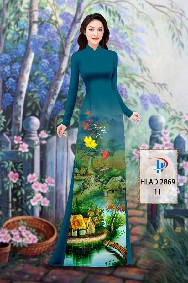 Vải Áo Dài Phong Cảnh AD HLAD 2869 6