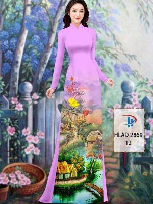 Vải Áo Dài Phong Cảnh AD HLAD 2869 31