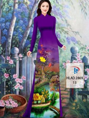 Vải Áo Dài Phong Cảnh AD HLAD 2869 32