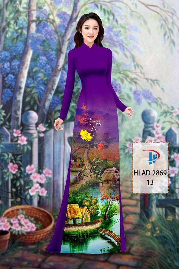 Vải Áo Dài Phong Cảnh AD HLAD 2869 8