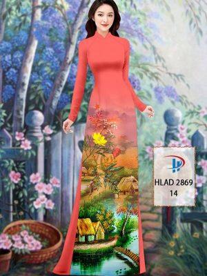 Vải Áo Dài Phong Cảnh AD HLAD 2869 33
