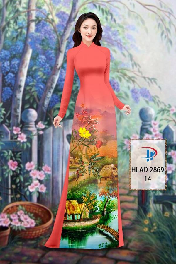 Vải Áo Dài Phong Cảnh AD HLAD 2869 9