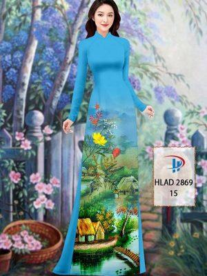 Vải Áo Dài Phong Cảnh AD HLAD 2869 34