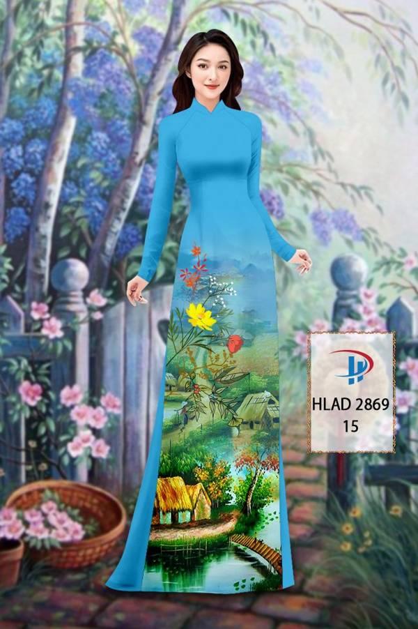 Vải Áo Dài Phong Cảnh AD HLAD 2869 10