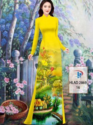 Vải Áo Dài Phong Cảnh AD HLAD 2869 35