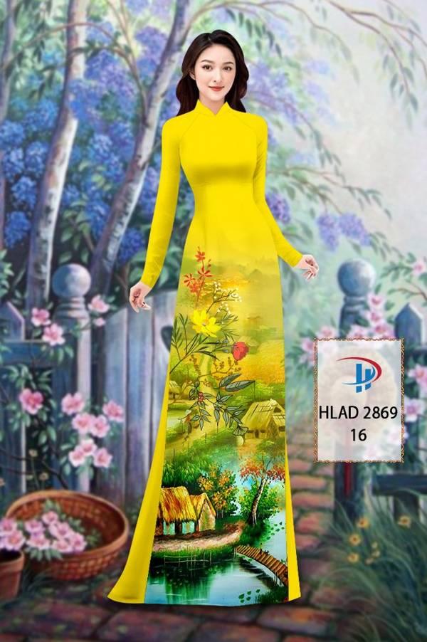 Vải Áo Dài Phong Cảnh AD HLAD 2869 11