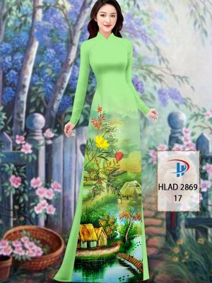 Vải Áo Dài Phong Cảnh AD HLAD 2869 36