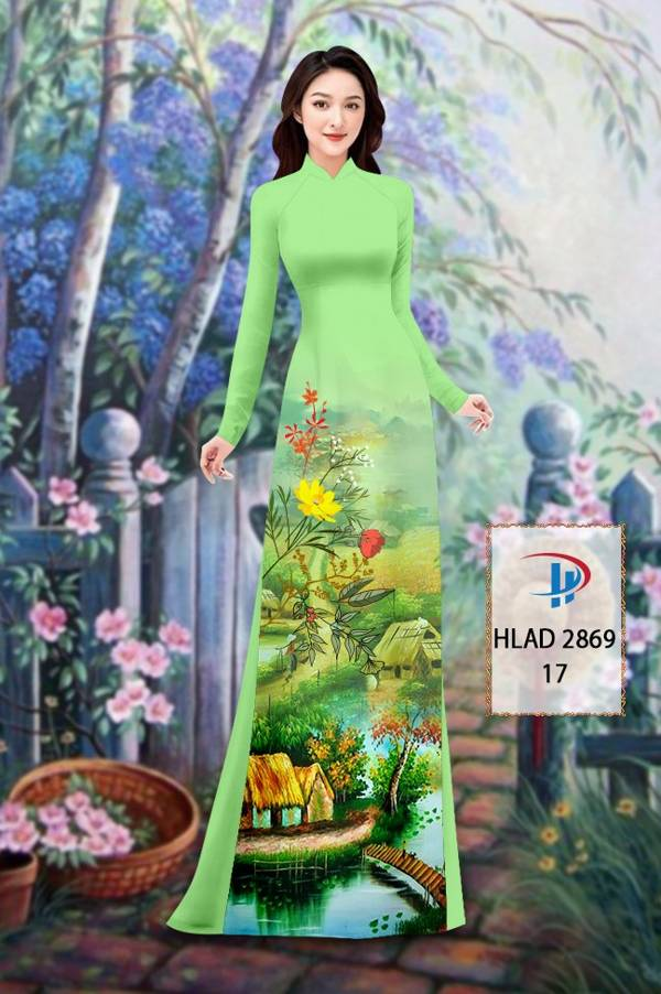 Vải Áo Dài Phong Cảnh AD HLAD 2869 12