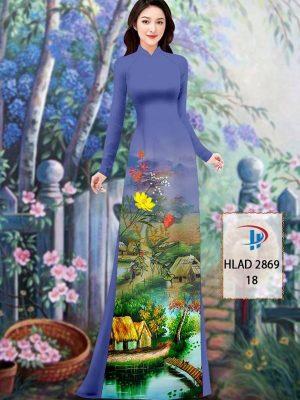 Vải Áo Dài Phong Cảnh AD HLAD 2869 37