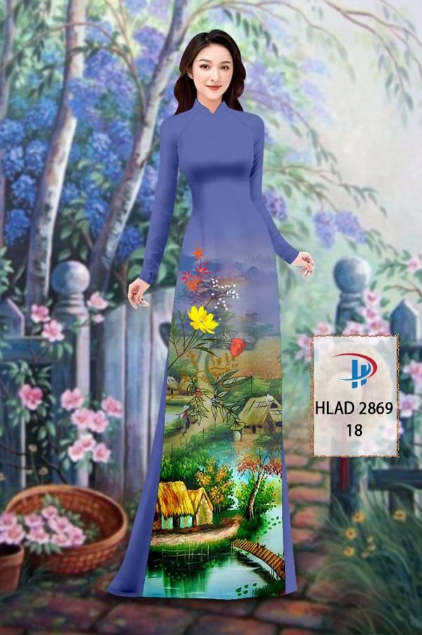 Vải Áo Dài Phong Cảnh AD HLAD 2869 13