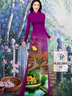 Vải Áo Dài Phong Cảnh AD HLAD 2869 38