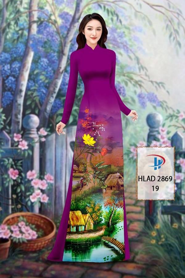 Vải Áo Dài Phong Cảnh AD HLAD 2869 14