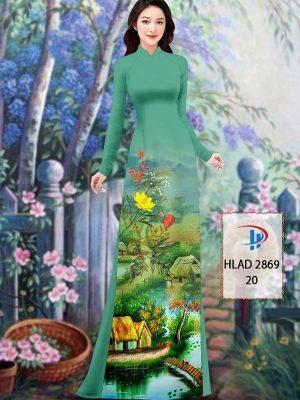 Vải Áo Dài Phong Cảnh AD HLAD 2869 39