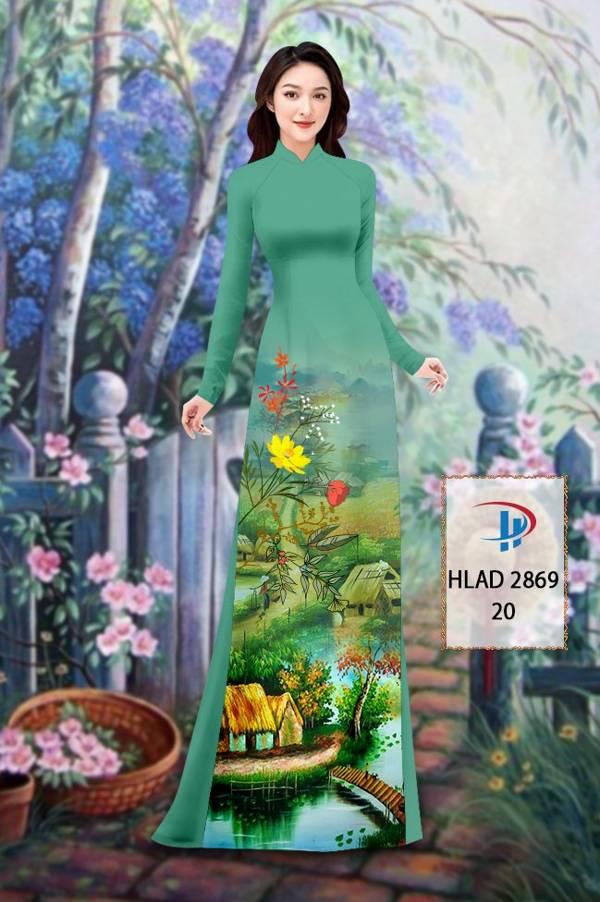 Vải Áo Dài Phong Cảnh AD HLAD 2869 15