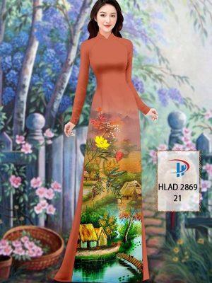 Vải Áo Dài Phong Cảnh AD HLAD 2869 40