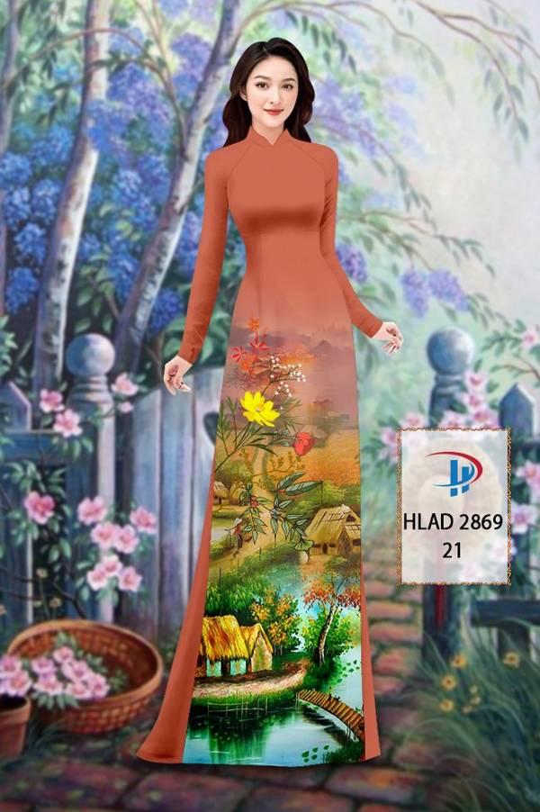 Vải Áo Dài Phong Cảnh AD HLAD 2869 16