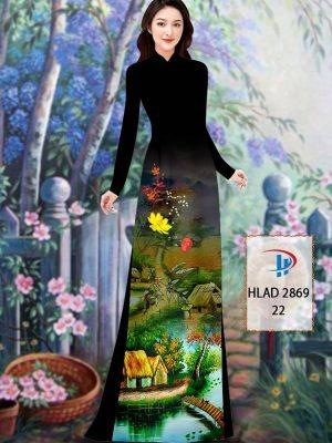 Vải Áo Dài Phong Cảnh AD HLAD 2869 41