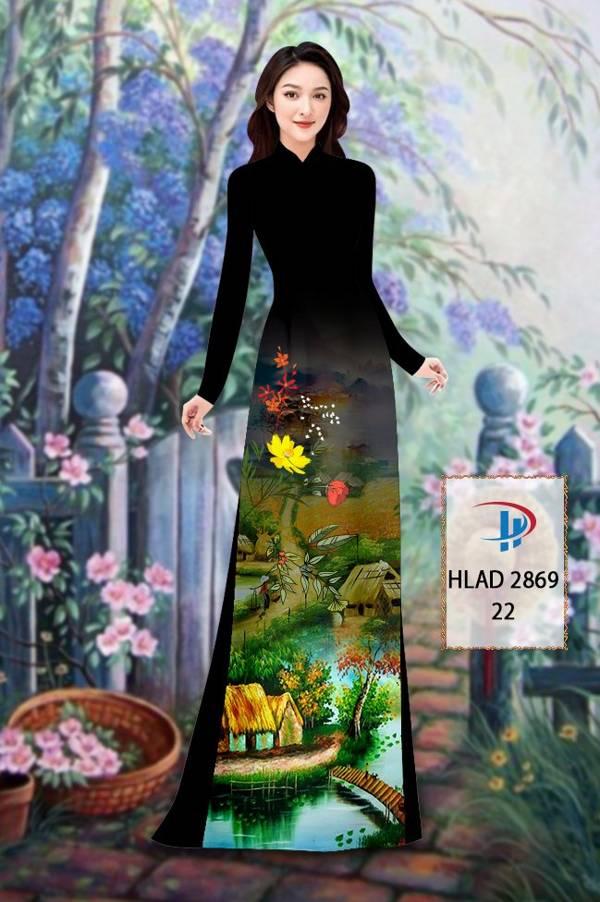 Vải Áo Dài Phong Cảnh AD HLAD 2869 17