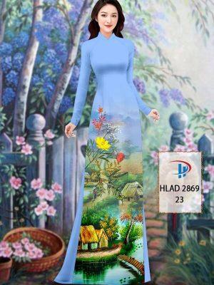 Vải Áo Dài Phong Cảnh AD HLAD 2869 42