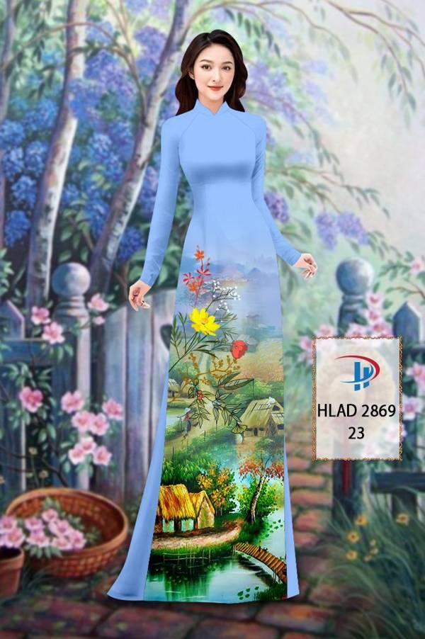 Vải Áo Dài Phong Cảnh AD HLAD 2869 18