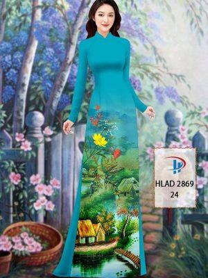 Vải Áo Dài Phong Cảnh AD HLAD 2869 43