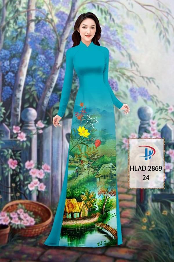 Vải Áo Dài Phong Cảnh AD HLAD 2869 19