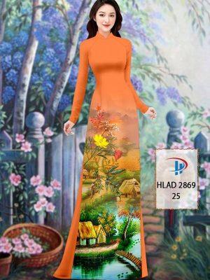 Vải Áo Dài Phong Cảnh AD HLAD 2869 44