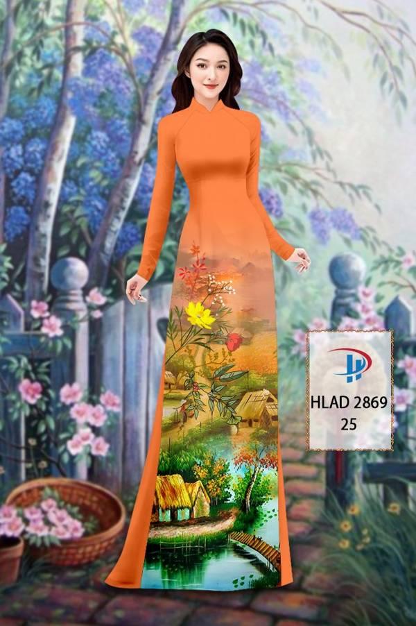 Vải Áo Dài Phong Cảnh AD HLAD 2869 20
