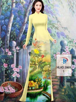 Vải Áo Dài Phong Cảnh AD HLAD 2869 45