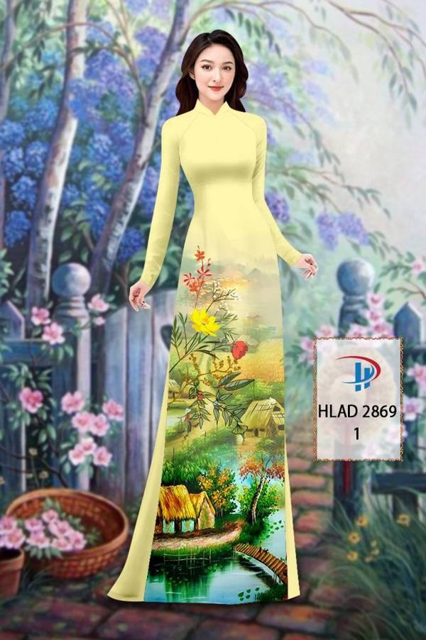 Vải Áo Dài Phong Cảnh AD HLAD 2869 21