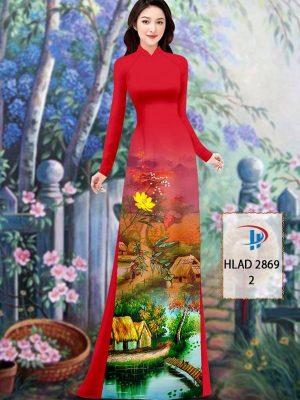 Vải Áo Dài Phong Cảnh AD HLAD 2869 46