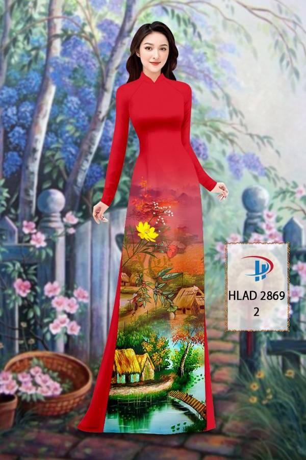 Vải Áo Dài Phong Cảnh AD HLAD 2869 22