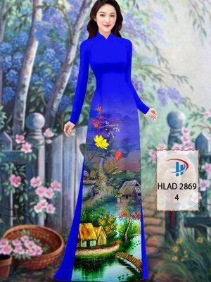 Vải Áo Dài Phong Cảnh AD HLAD 2869 48