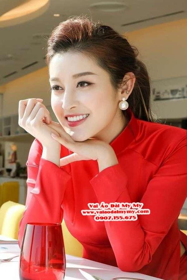 Vải Áo Dài Thái Tuấn Trơn Màu Đỏ AD TRON Do 7