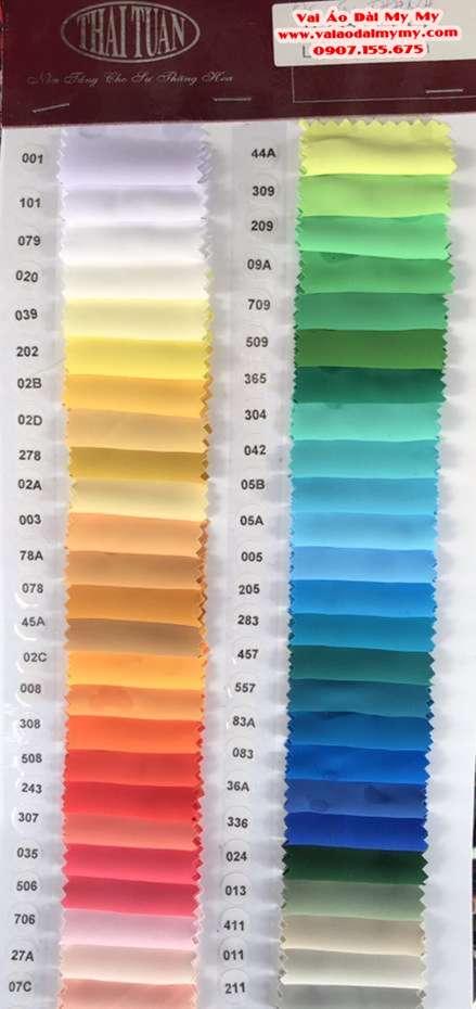 Vải Áo Dài Thái Tuấn Trơn Màu Đen AD TRON Den 3