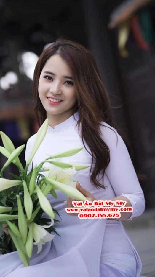 Vải Áo Dài Thái Tuấn Trơn Màu Trắng AD TRON Trang 2
