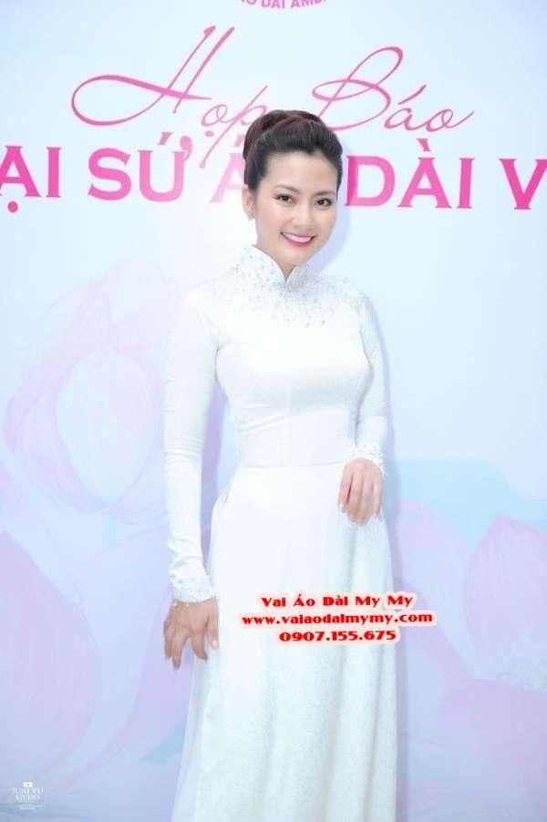 Vải Áo Dài Thái Tuấn Trơn Màu Trắng AD TRON Trang 3