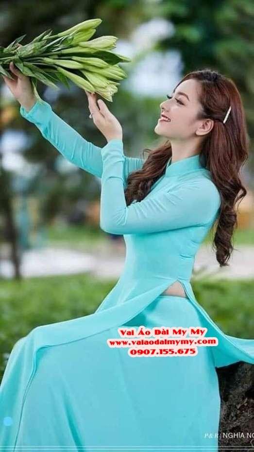 Vải Áo Dài Thái Tuấn Trơn Màu Xanh Ngọc AD TRON XanhNgoc 1
