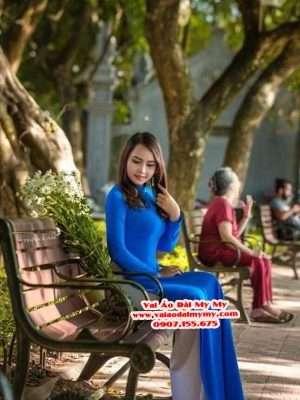 Vải Áo Dài Thái Tuấn Trơn Màu Xanh Dương AD TRON XanhDuong 6