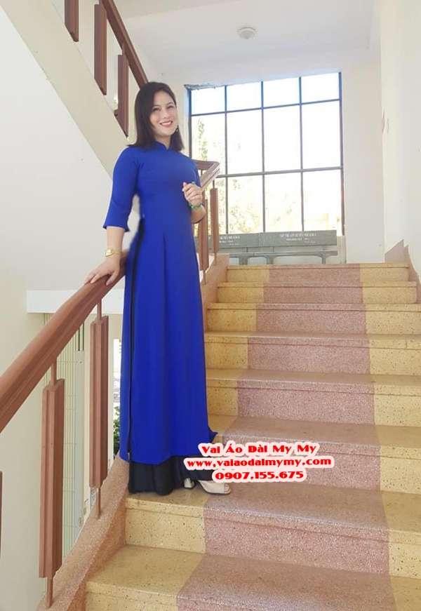 Vải Áo Dài Thái Tuấn Trơn Màu Xanh Dương AD TRON XanhDuong 1