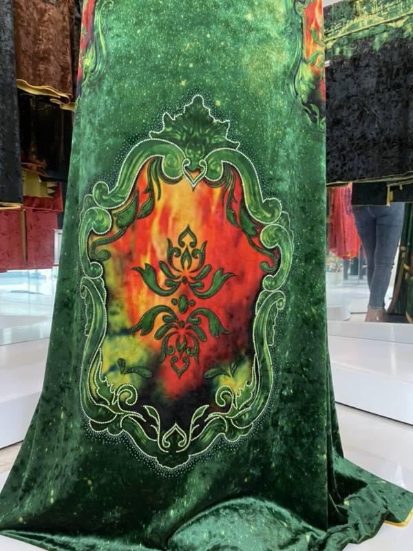Vải Áo Dài Nhung Hoa Văn AD DL 9195 6